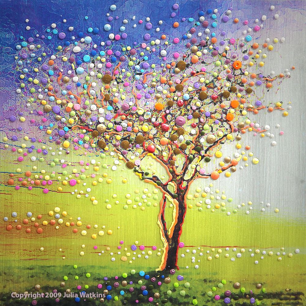 The Peace Tree Energy Painting By Energy Artist Julia